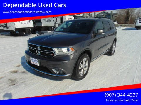 2015 Dodge Durango for sale at Dependable Used Cars in Anchorage AK