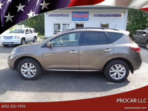 2012 Nissan Murano for sale at PROCAR LLC in Portland TN