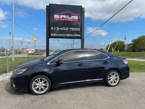 2010 Lexus HS 250h for sale at SIRIUS MOTORS INC in Monroe OH