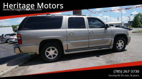 2003 GMC Yukon XL for sale at Heritage Motors in Topeka KS