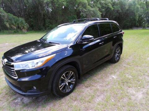 2016 Toyota Highlander for sale at TIMBERLAND FORD in Perry FL