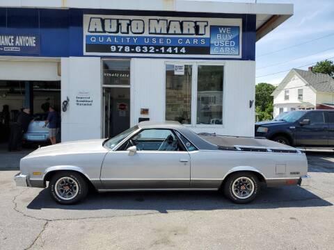 1985 Chevrolet El Camino for sale at AUTO MART in Gardner MA