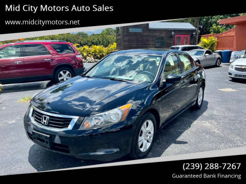 2009 Honda Accord for sale at Mid City Motors Auto Sales in Fort Myers FL