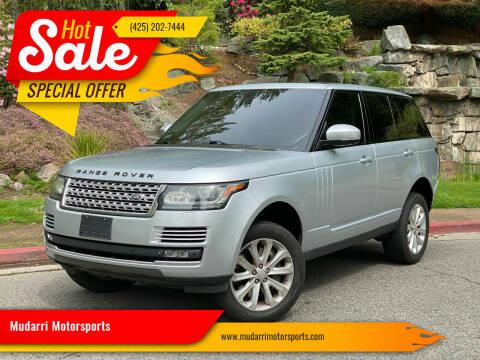 2013 Land Rover Range Rover for sale at Mudarri Motorsports in Kirkland WA