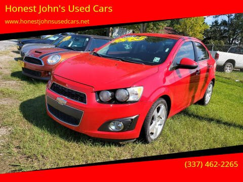 2015 Chevrolet Sonic for sale at Honest John's Used Cars in Deridder LA