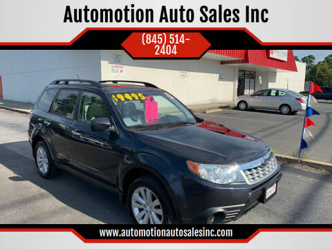 2011 Subaru Forester for sale at Automotion Auto Sales Inc in Kingston NY