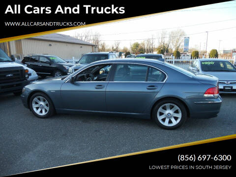 2006 BMW 7 Series for sale at All Cars and Trucks in Buena NJ