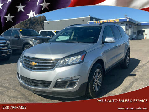 2016 Chevrolet Traverse for sale at Paris Auto Sales & Service in Big Rapids MI