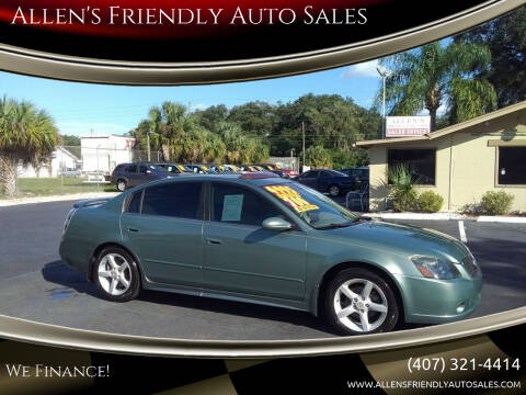 2006 Nissan Altima for sale at Allen's Friendly Auto Sales in Sanford FL