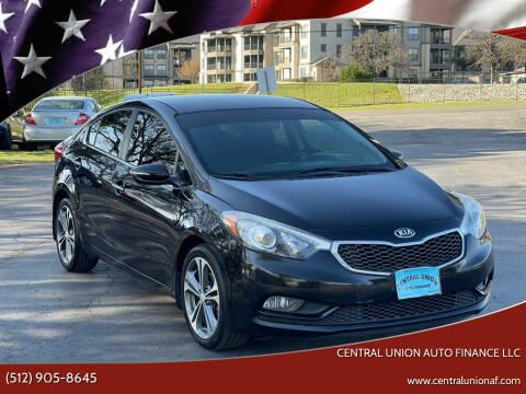 2014 Kia Forte for sale at Central Union Auto Finance LLC in Austin TX