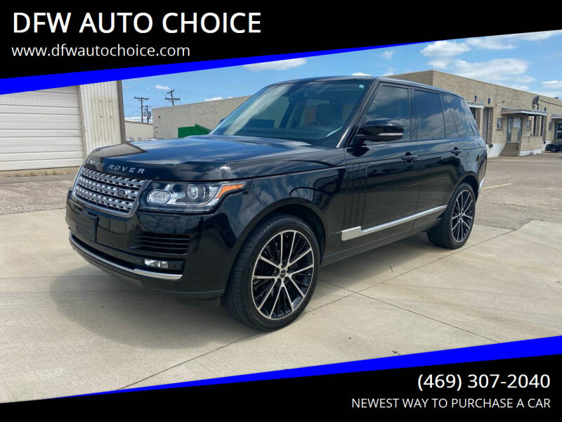 2013 Land Rover Range Rover for sale at DFW AUTO CHOICE in Dallas TX