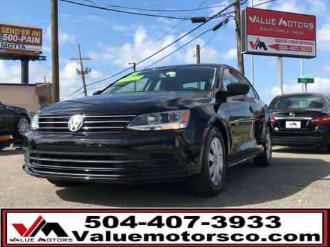2015 Volkswagen Jetta for sale at Value Motors Company in Marrero LA