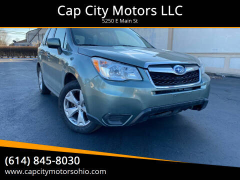 2014 Subaru Forester for sale at Cap City Motors LLC in Columbus OH