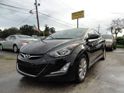 2015 Hyundai Elantra for sale at GREAT VALUE MOTORS in Jacksonville FL