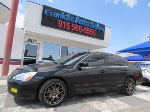 2007 Honda Accord for sale at Franklin Auto Sales in El Paso TX