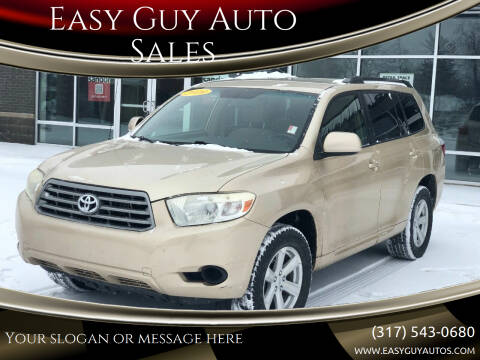 2009 Toyota Highlander for sale at Easy Guy Auto Sales in Indianapolis IN