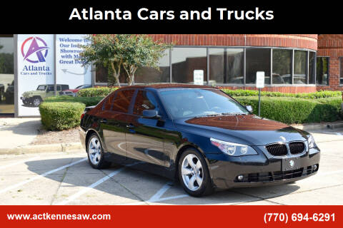 2007 BMW 5 Series for sale at Atlanta Cars and Trucks in Kennesaw GA
