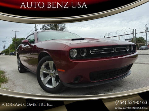 2019 Dodge Challenger for sale at AUTO BENZ USA in Fort Lauderdale FL