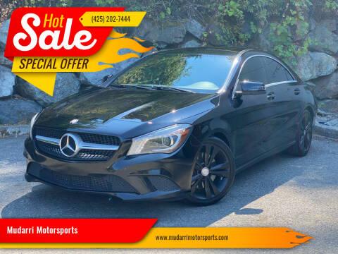2014 Mercedes-Benz CLA for sale at Mudarri Motorsports in Kirkland WA