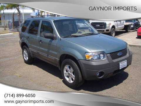 2006 Ford Escape for sale at Gaynor Imports in Stanton CA