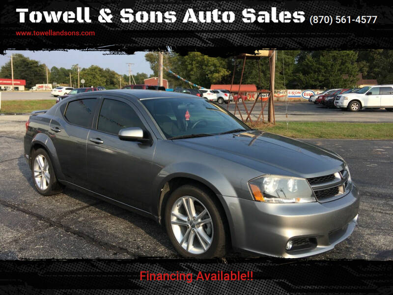 2013 Dodge Avenger for sale at Towell & Sons Auto Sales in Manila AR