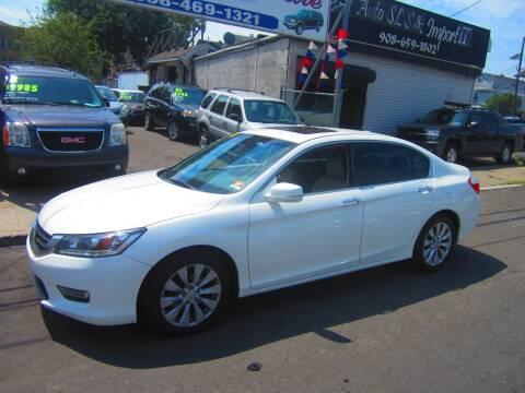 2013 Honda Accord for sale at Cali Auto Sales Inc. in Elizabeth NJ
