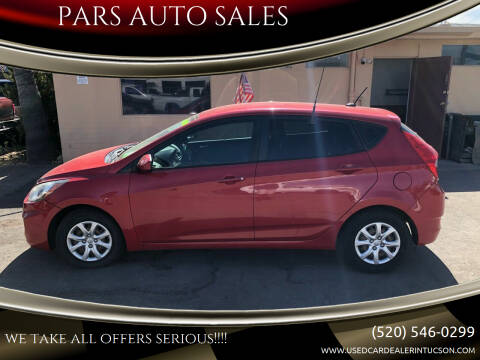 2012 Hyundai Accent for sale at PARS AUTO SALES in Tucson AZ