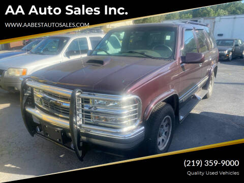 1996 Chevrolet Tahoe for sale at AA Auto Sales Inc. in Gary IN