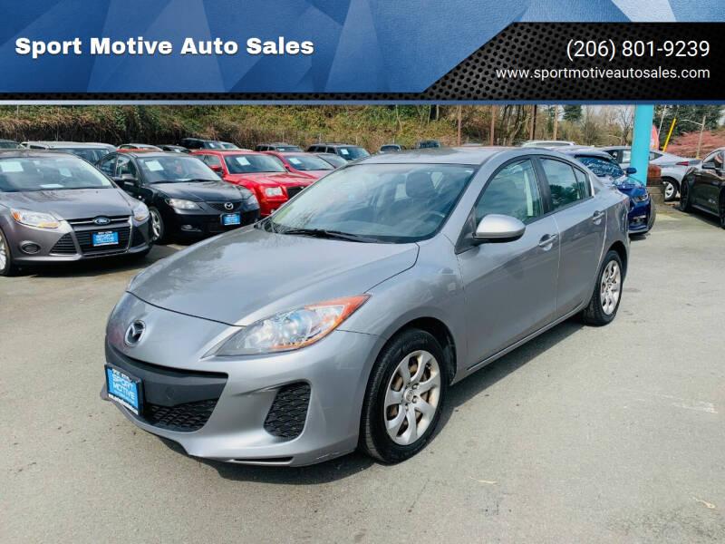 2013 Mazda MAZDA3 for sale at Sport Motive Auto Sales in Seattle WA