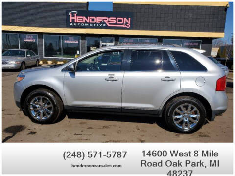 2011 Ford Edge for sale at Henderson Automotive, LLC in Oak Park MI