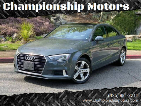 2018 Audi A3 for sale at Championship Motors in Redmond WA