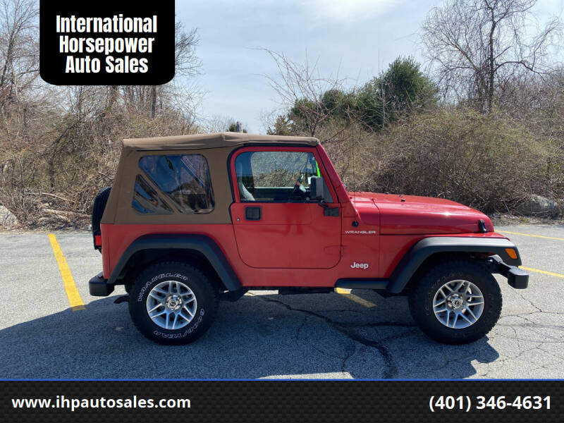 1998 Jeep Wrangler for sale at International Horsepower Auto Sales in Warwick RI