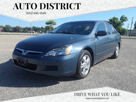 2006 Honda Accord for sale at Auto District in Baytown TX