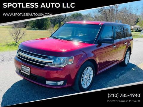 2017 Ford Flex for sale at SPOTLESS AUTO LLC in San Antonio TX