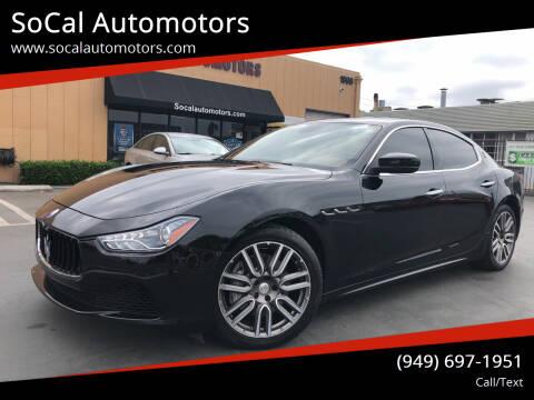 2017 Maserati Ghibli for sale at SoCal Auto Motors in Costa Mesa CA