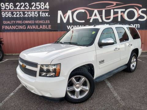2012 Chevrolet Tahoe for sale at MC Autos LLC in Pharr TX