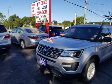 2016 Ford Explorer for sale at 1st Choice Auto Sales in Newport News VA
