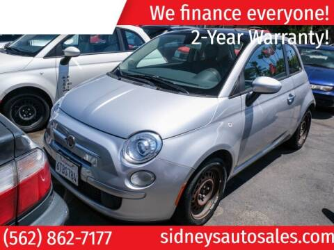 2012 FIAT 500 for sale at Sidney Auto Sales in Downey CA