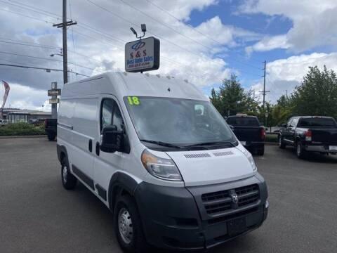 2018 RAM ProMaster Cargo for sale at S&S Best Auto Sales LLC in Auburn WA