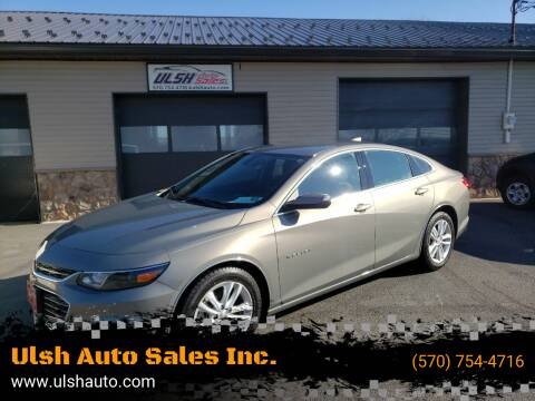 2018 Chevrolet Malibu for sale at Ulsh Auto Sales Inc. in Summit Station PA