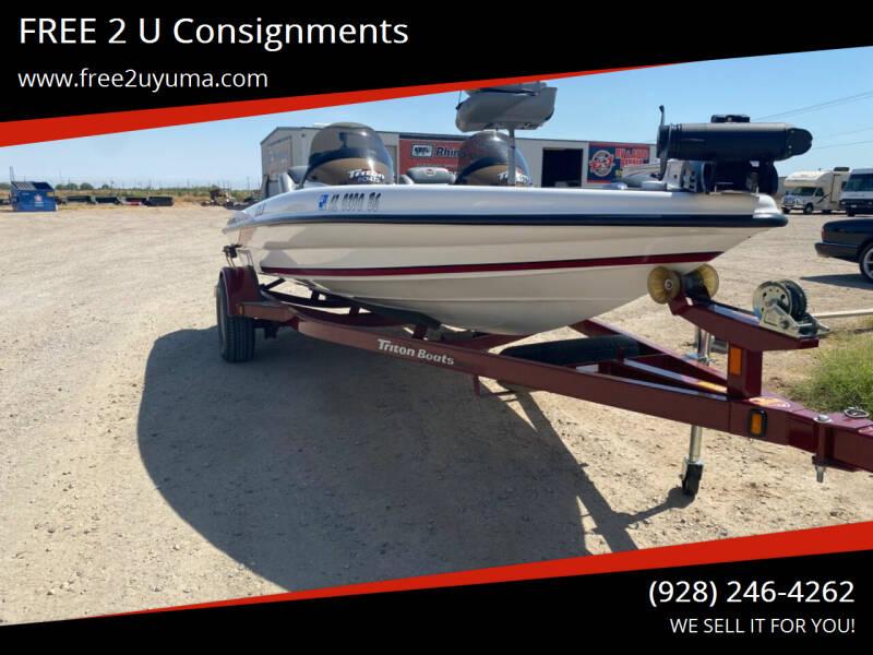 2006 Triton TR-176 for sale at FREE 2 U Consignments in Yuma AZ