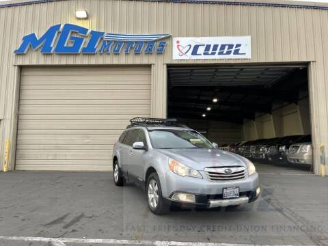 2012 Subaru Outback for sale at MGI Motors in Sacramento CA