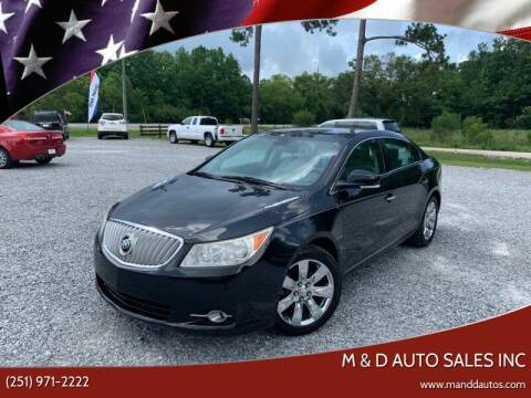 2011 Buick LaCrosse for sale at M & D Auto Sales Inc in Foley AL