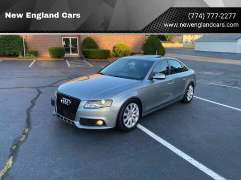 2011 Audi A4 for sale at New England Cars in Attleboro MA