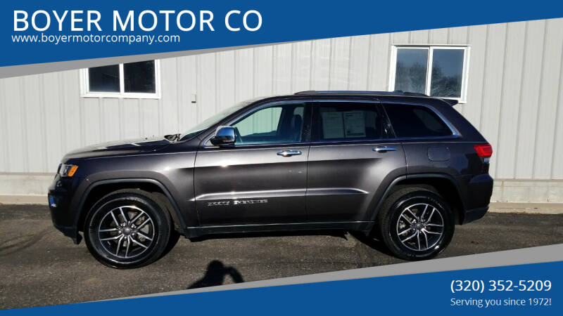 2019 Jeep Grand Cherokee for sale at BOYER MOTOR CO in Sauk Centre MN
