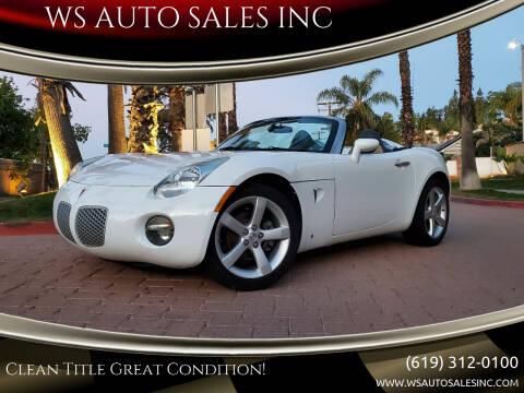 2006 Pontiac Solstice for sale at WS AUTO SALES INC in El Cajon CA