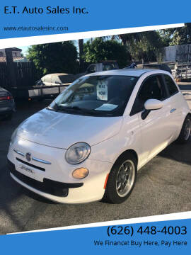 2012 FIAT 500 for sale at E.T. Auto Sales Inc. in El Monte CA