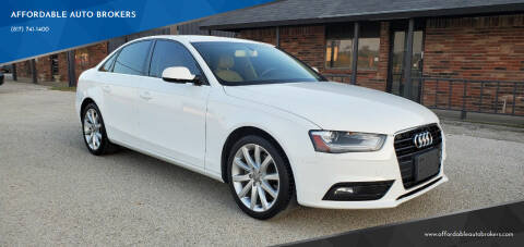 2013 Audi A4 for sale at AFFORDABLE AUTO BROKERS in Keller TX