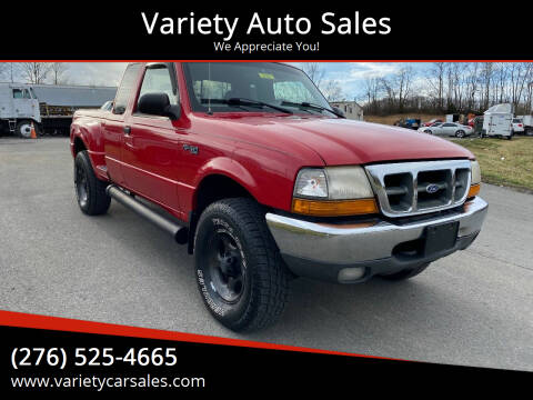 2000 Ford Ranger for sale at Variety Auto Sales in Abingdon VA