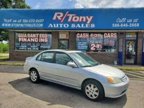 2003 Honda Civic for sale at R Tony Auto Sales in Clinton Township MI